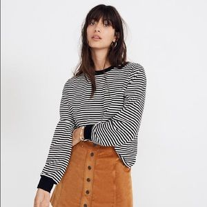 Madewell Striped Long-Sleeve Tee, XXS